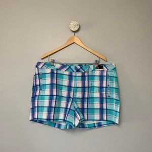 NWT A.n.a Pastel Plaid Women's Shorts- Size 20T
